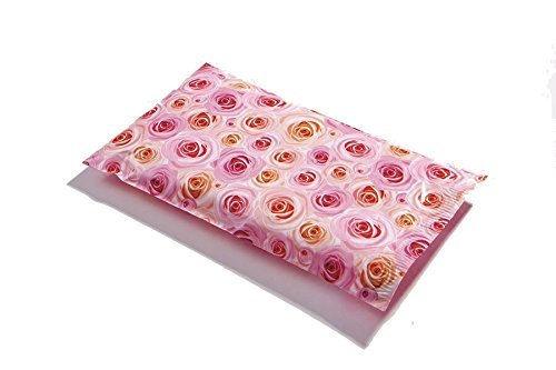 Poly Mailers Roses Designer Mailers Pink Shipping Envelopes Boutique Custom Bags #SmileMail (6x9)