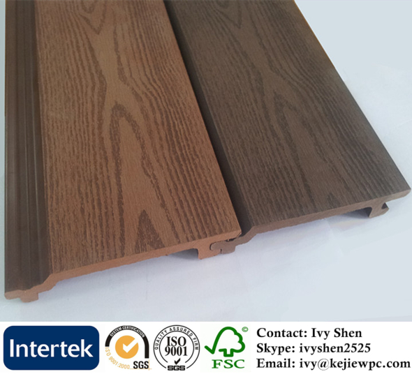 WPC Eco Friendly Fence Panel Outdoor Cladding WPC Wall Panel