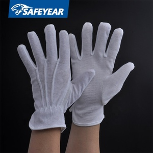 Cheap Work Gloves With White Soft Textile Cotton For Sun Protection