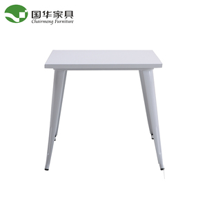 Cheap barbeque metal dinning table with metal powder coating legs