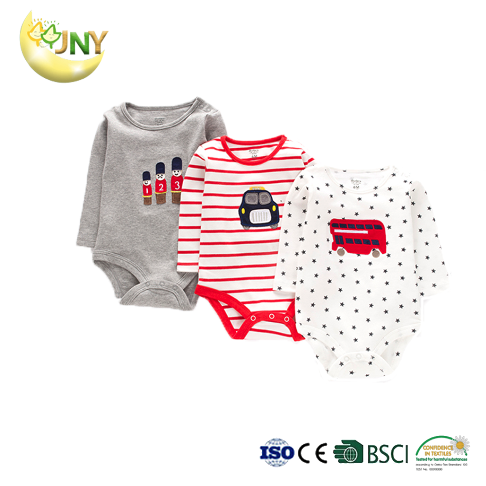 Long sleeve summer stripe baby romper clothes soft cotton baby girl bodysuit
