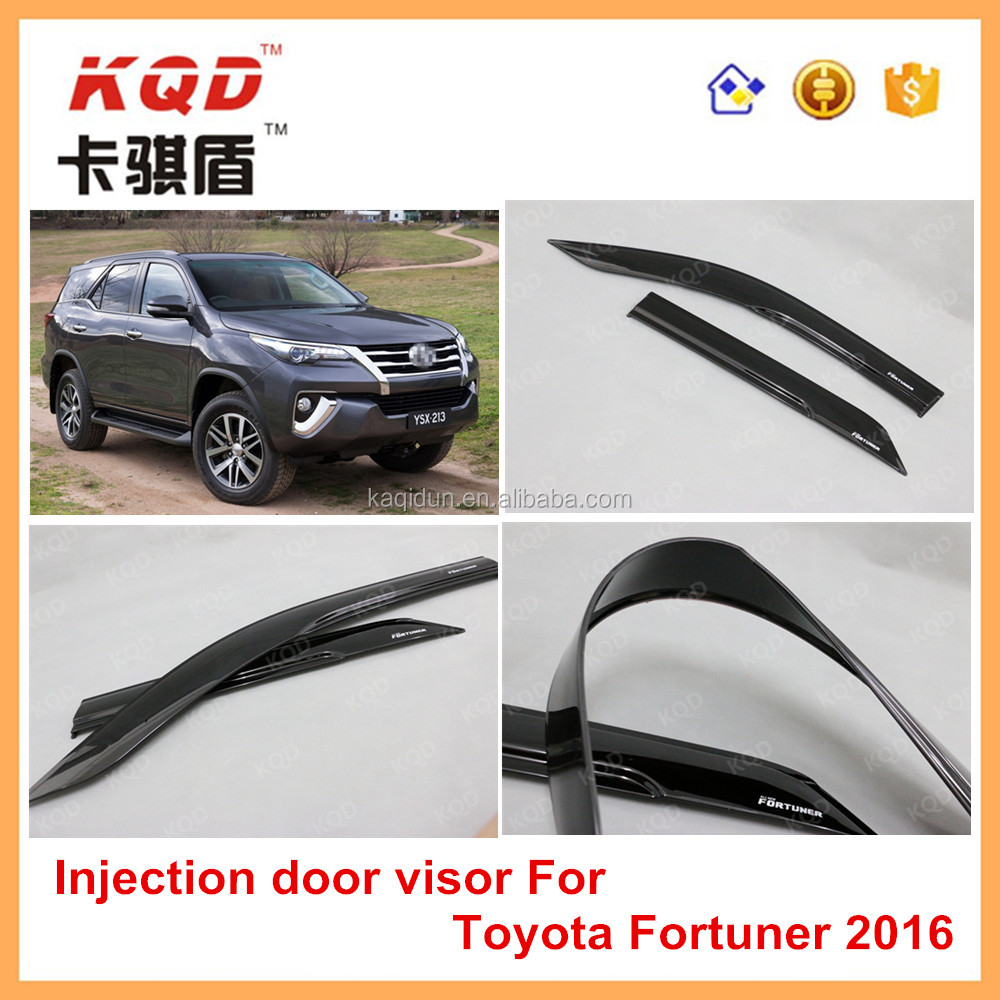 Fortuner 4 4accessories sun visor all black PC door visor window visor  fortuner suv accessories dd8213c610d