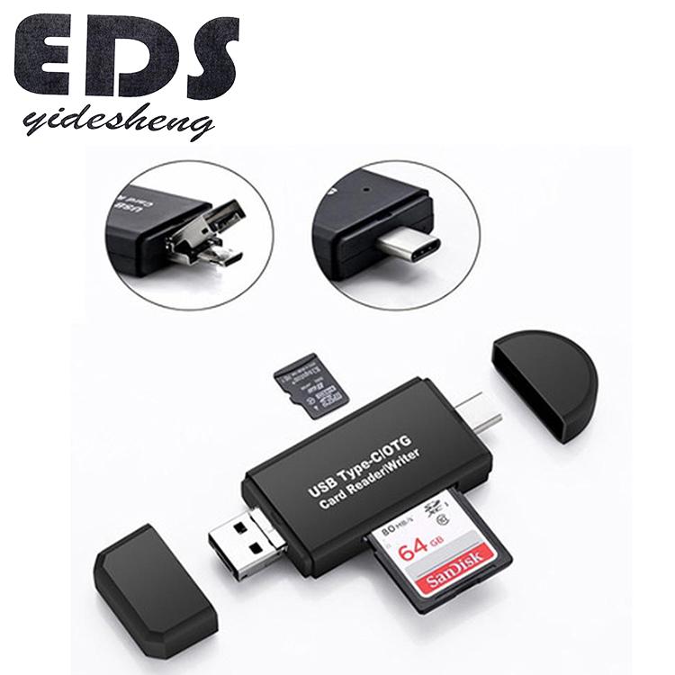 Top Spplier Type c USB 3 In 1 OTG Card Reader High speed