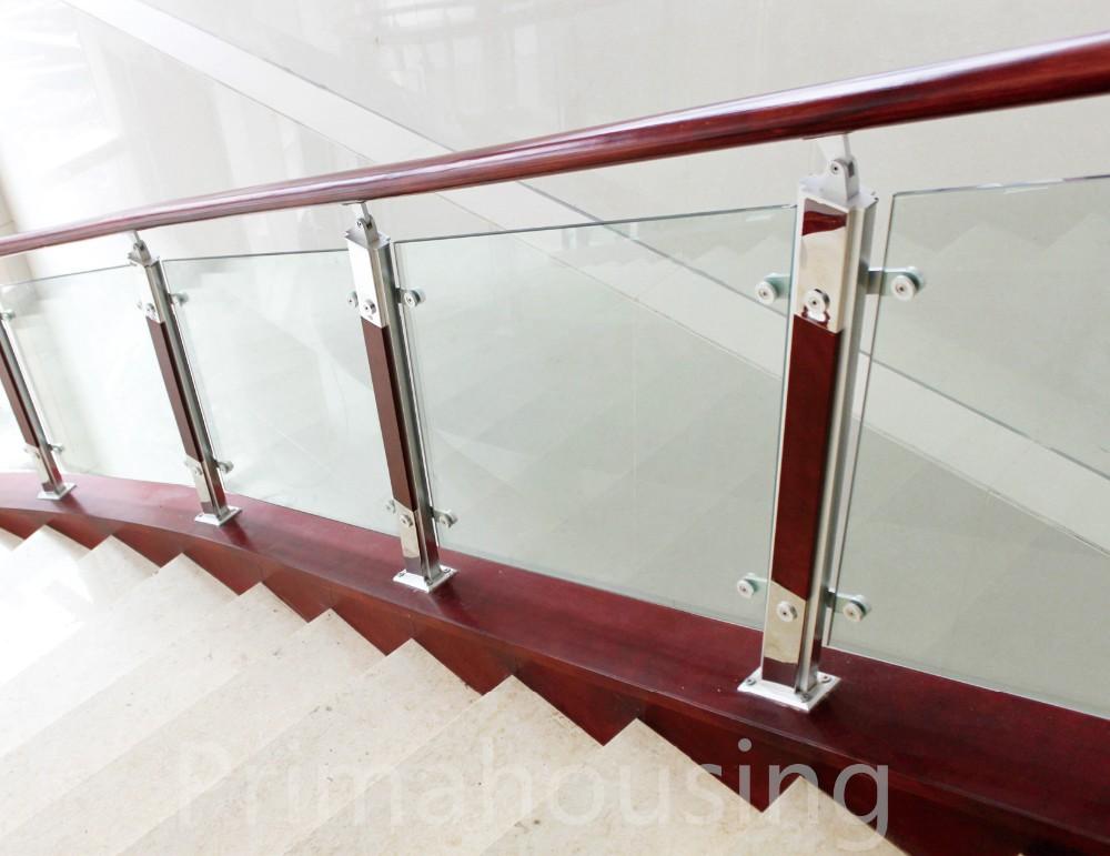 Modern Railing Design Stainless Steel Wood Glass Stair Railing Cost - Buy  Glass Stair Railing Cost,Stainless Steel Wood Railing,Modern Railing Design