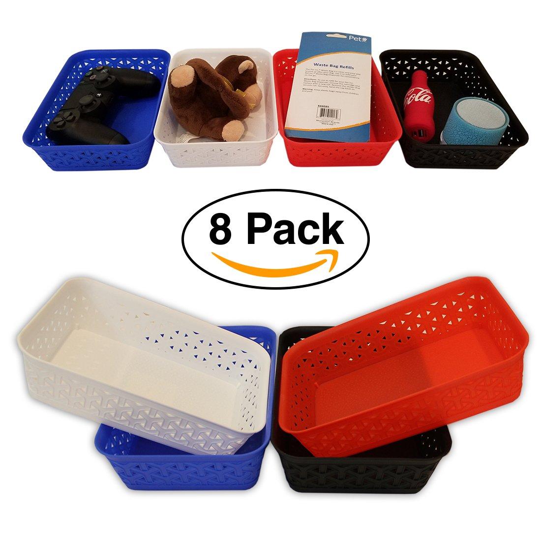 Bin Storage Trays White 3pk By Mainstay