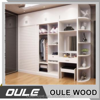 Mdf armario de madera maciza con tocador muebles de for Tocador de madera maciza