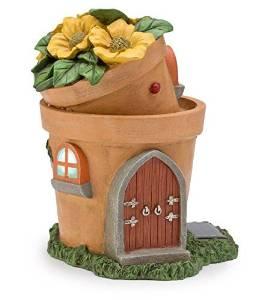 Miniature Fairy Garden Solar Flower Pot Home, Double Pot