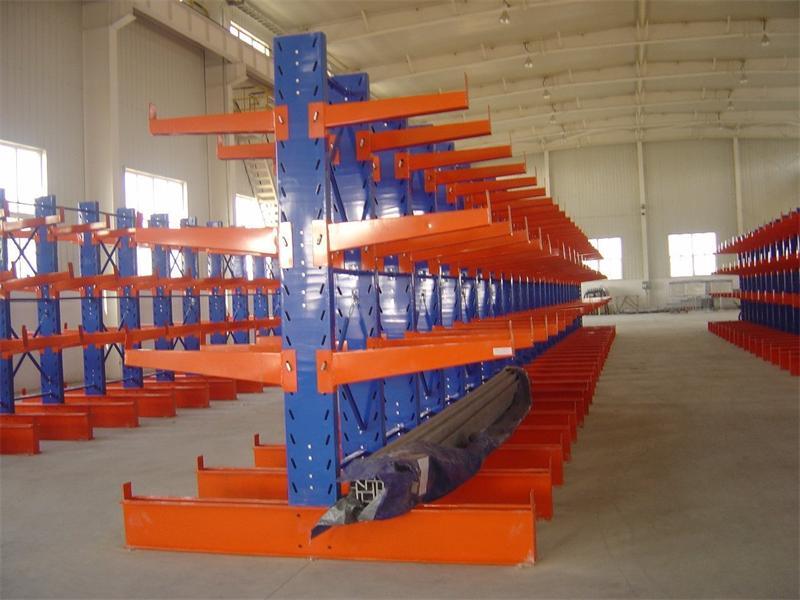 Metal Cantilever Storage Shelf Steel Pipe Rack