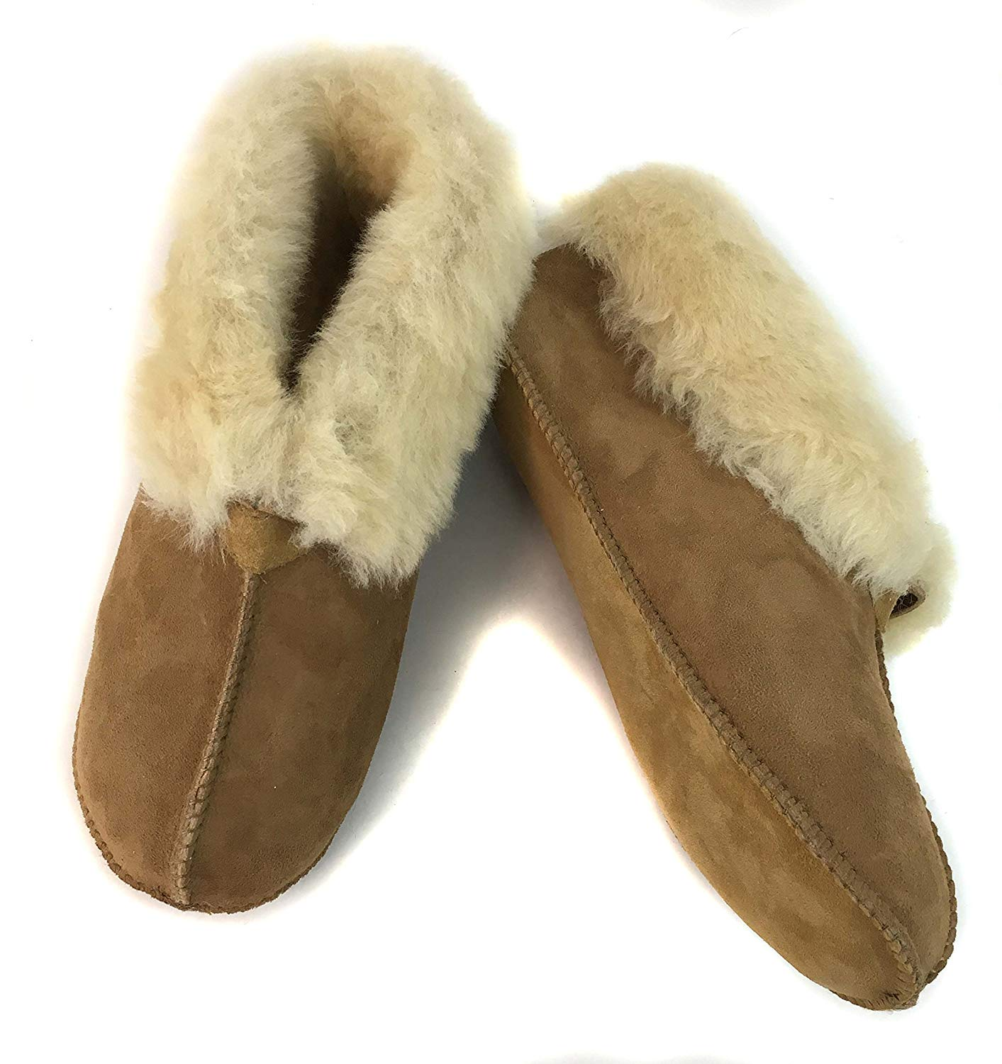 ab79dca72767 Get Quotations · Surell Womens Genuine Shearling Slip On Soft Sole Moccasin  - Sheepskin Comfort Slippers