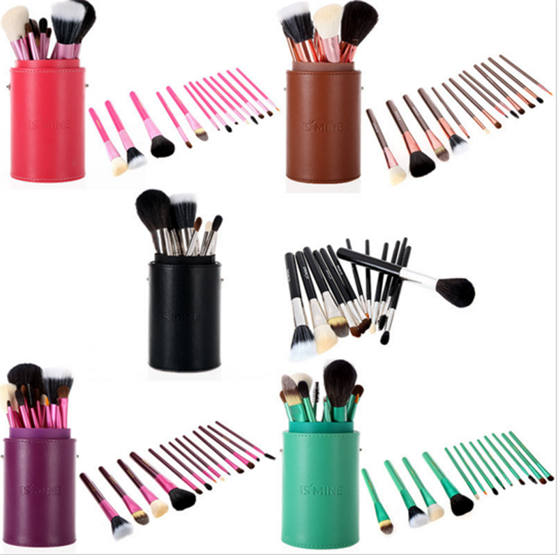 Make-up-Tool Kits Make-Up Pinsel Set Professionelle 13 Stücke bilden bürsten-satz mit Zylinder Fall Make-Up Pinsel