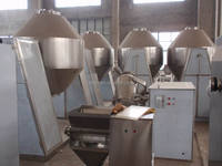 Phenylacetic acid double tapered vacuum drier