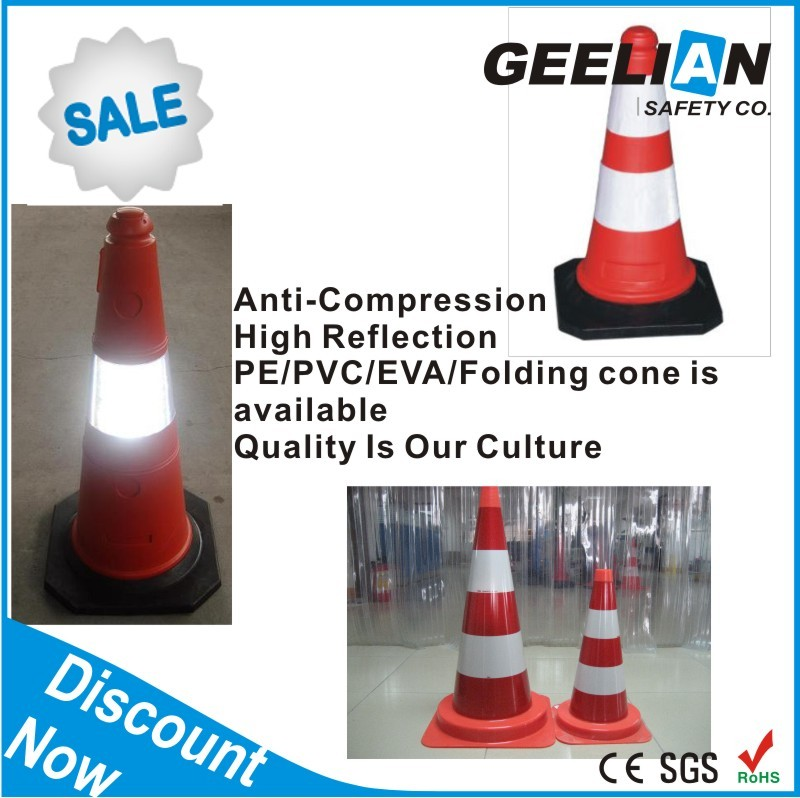 30/45/47/50/70/75/90CM Traffic Safety Cone Sign with Chains Handle