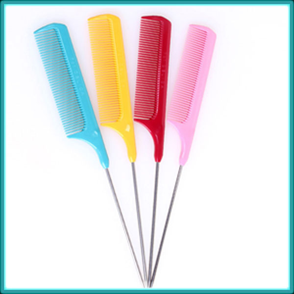 Quality Anti-static High Heat Resistance Hair Extension Tools Plastic/Metal Rat Tail Combs Section Combs for Salon