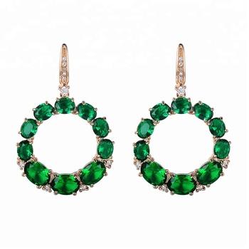 Jewelry Fashion Cz Round Earring Designs