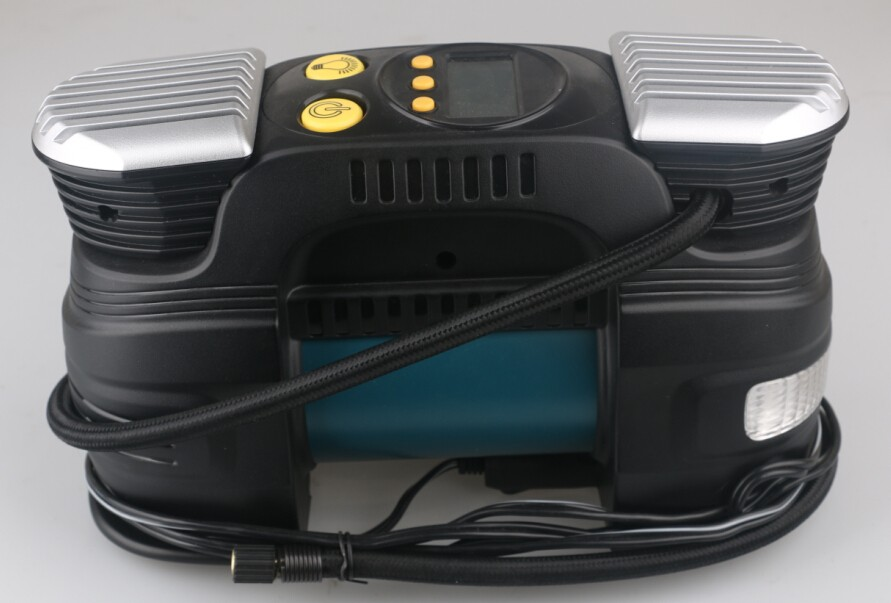 12v air compressor double cylinder silent air compressor/ tire inflator/tyre inflator with digital and auto cut off