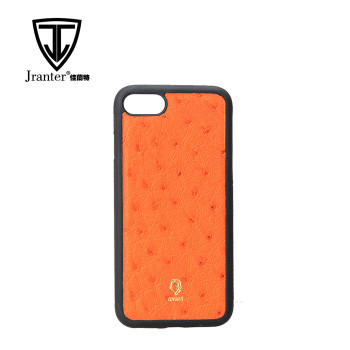 100% Real Ostrich Wholesale Custom Design Phone Case
