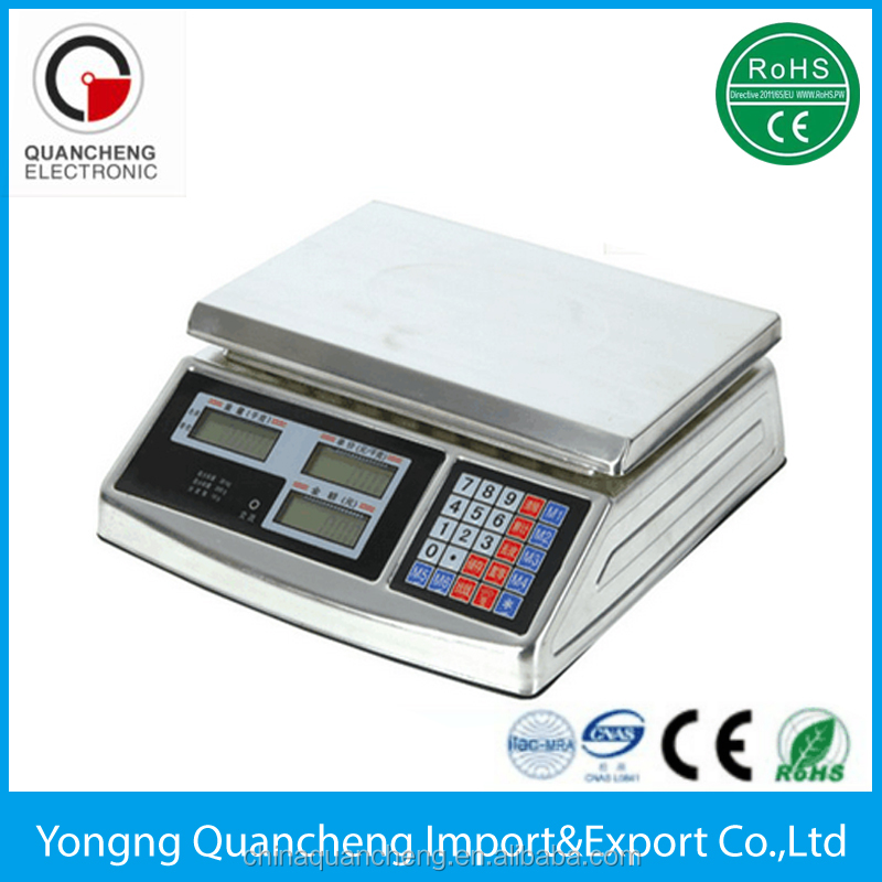 Digital Weight Scale 60LB Price Computing Food Meat Scale Produce Indutrial