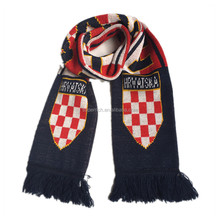 Fashion 100% acrylic Singapore football fans scarf,knitted football scarf