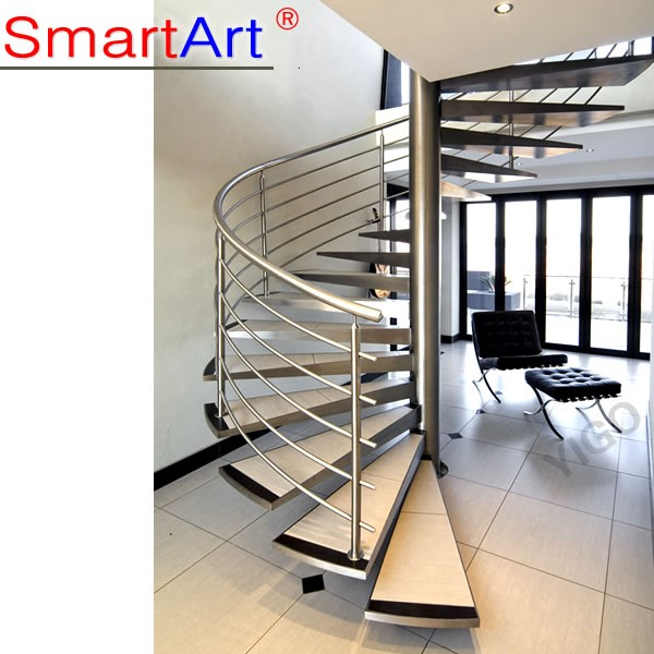 Stainless Steel Inner Spiral Stairs/stair Covering Ideas Picture