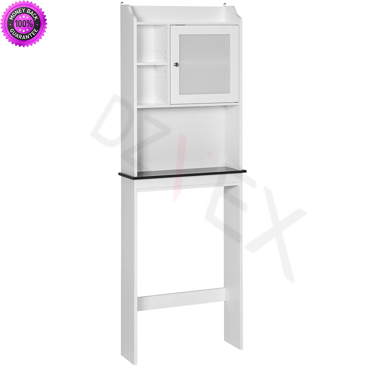 DzVeX Bathroom Over-the-Toilet Space Saver Storage Cabinet- White And shower caddy target pole shower caddy shower caddy bed bath and beyond corner shower caddy bathtub caddy portable shower caddy