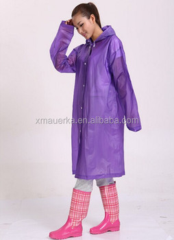 Custom Made Hooded Peva Rain Coats Long Poncho Type Purple Rain ...