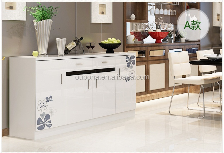 Credenza Moderna In Vetro : Moderno buffet credenza in legno bianco lucido vetro top porte
