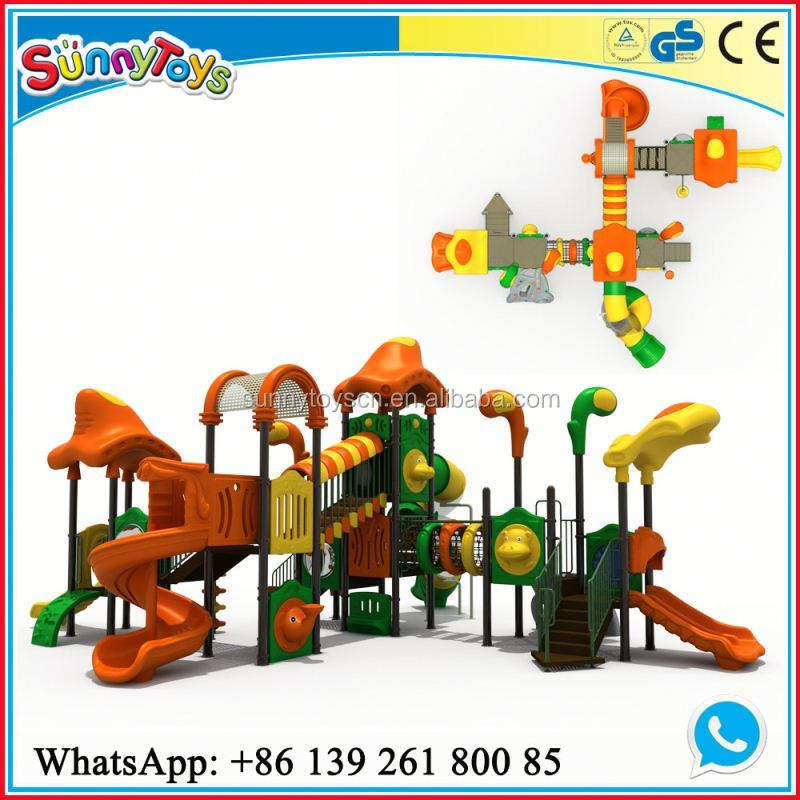 EN1176 Standard water park mushroom plastic toy dinosaur playground equipment