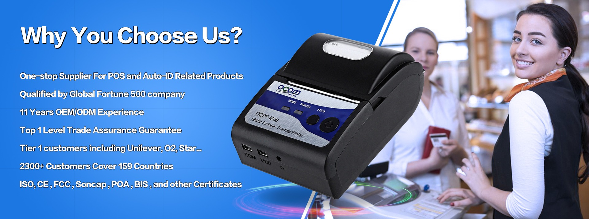 Shenzhen Ocom Technologies Limited Thermal Printer Barcode Mini Bluetooth M58 Ll Main Categories
