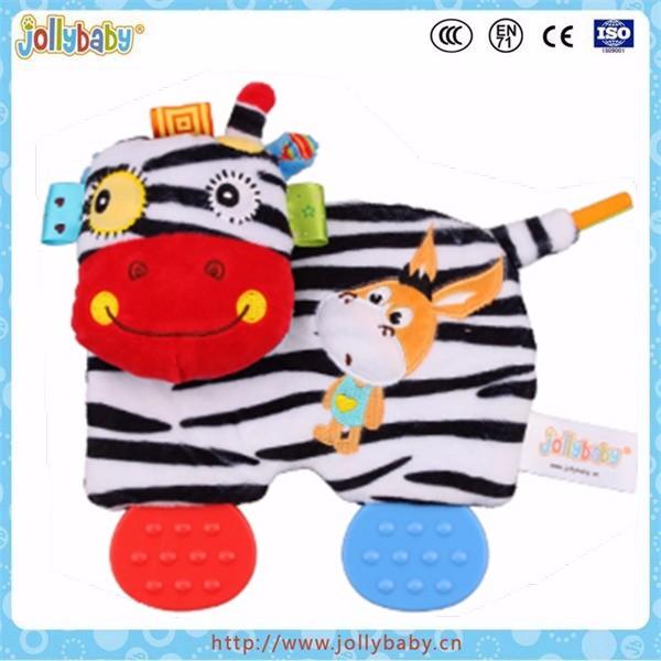 Jollybaby donkey snuggle teether baby soft toys