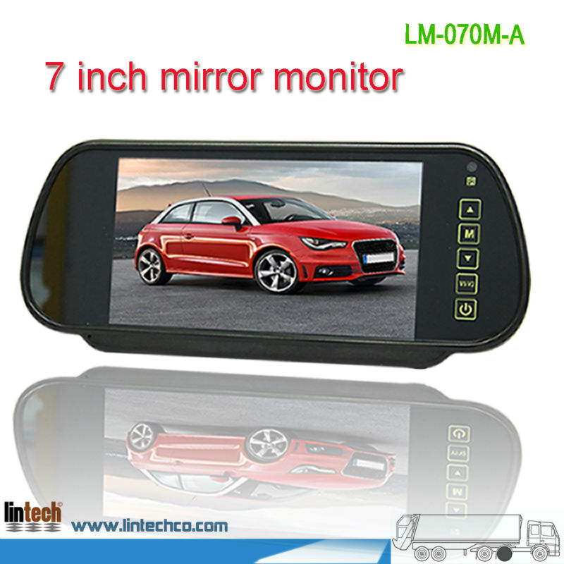 7 inch TFT LCD clip on Car rearview mirror monitor