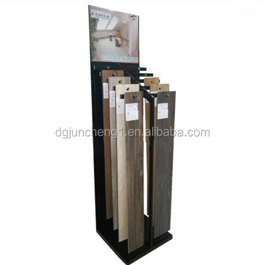 JC17511 Free standing metal laminate flooring display stand