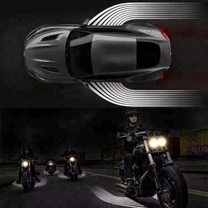 2018 new design led race motorcycle auto car wings welcome light projector angel wing car door ghost shadow led light