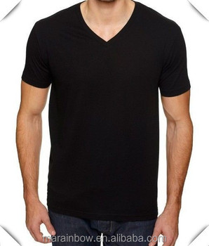 plain black v neck shirt