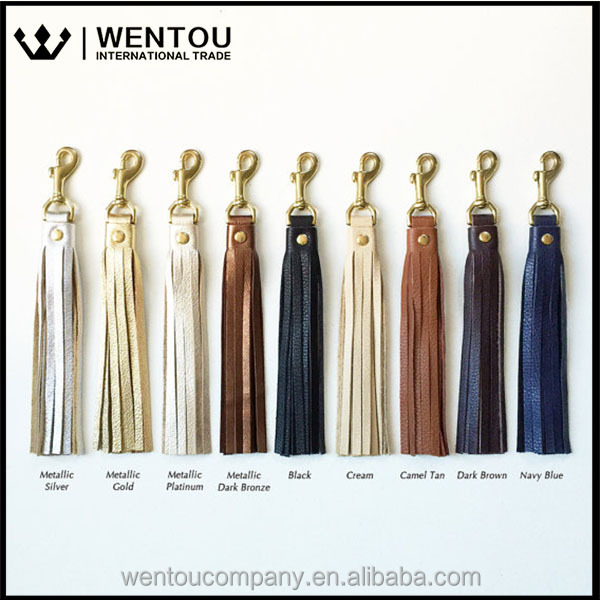 Free Shipping Popular Handbag Accessories Leather Tassel Purse Charm