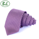 B&L Fashion hot sell stylish woven 100% silk tie wholesale black lattice red necktie