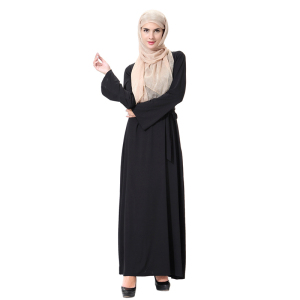 Wholesale Muslim Dress Dubai Women Black Abaya