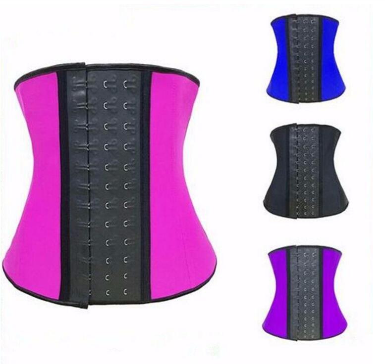 Women Waist Cincher Underbust Latex Corset Colorful Body Shaper Waist Trainer Wholesale