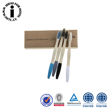 Hotel 100% Biodegradable Bamboo Charcoal Toothbrush Wholesale