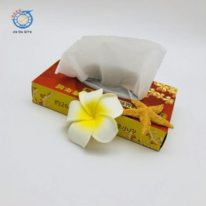 Eco-friendly 100% recycled pulp ultra soft small cube box facial tissue