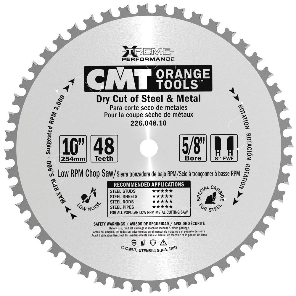 Buy CMT 226 572 10 Stainless Steel Saw Blade 10-inch x 72