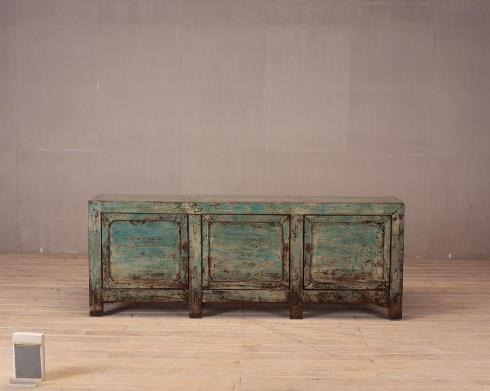Chinese antique asian furniture shanxi painted cabinet