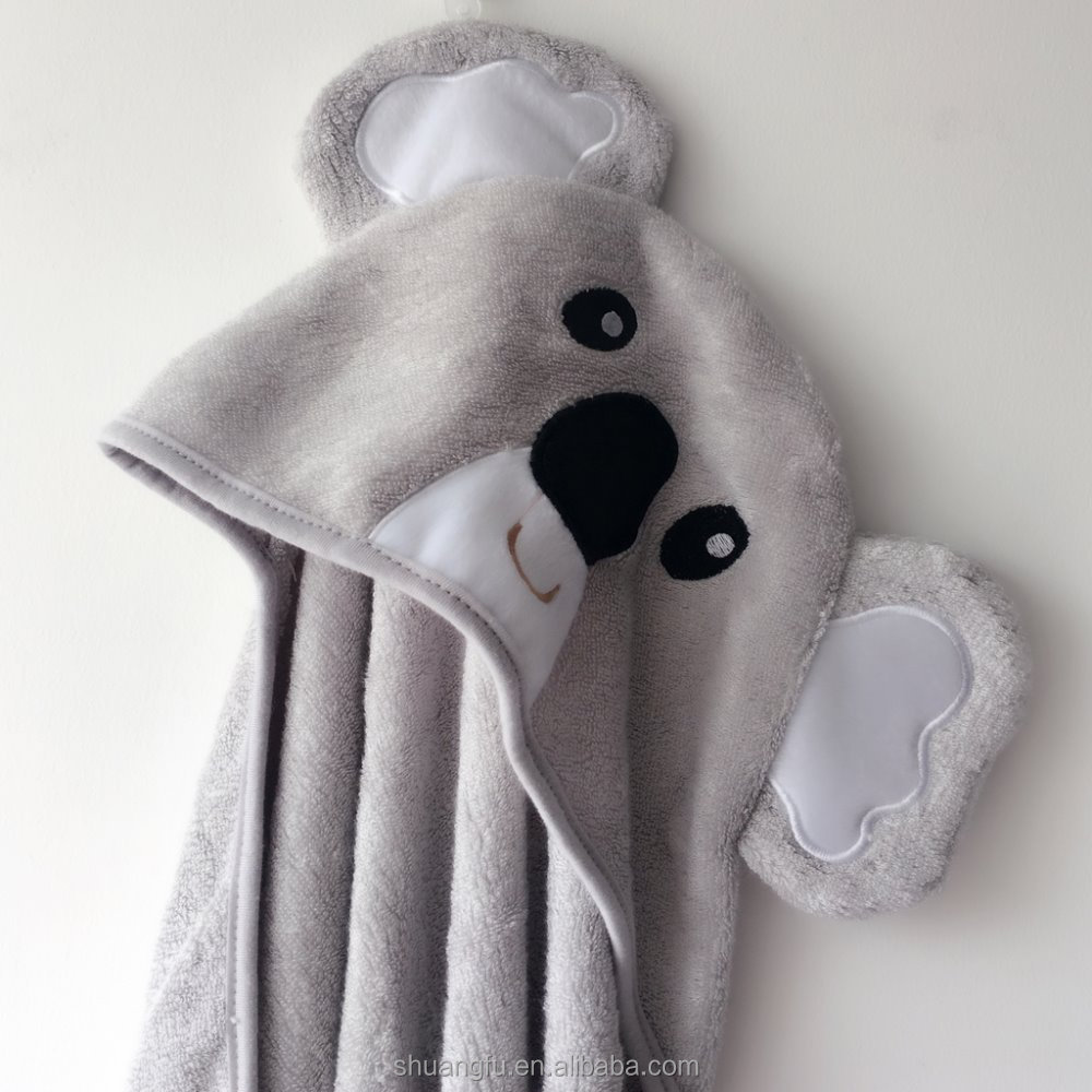 New animal design Pure bamboo baby hooded bath towel
