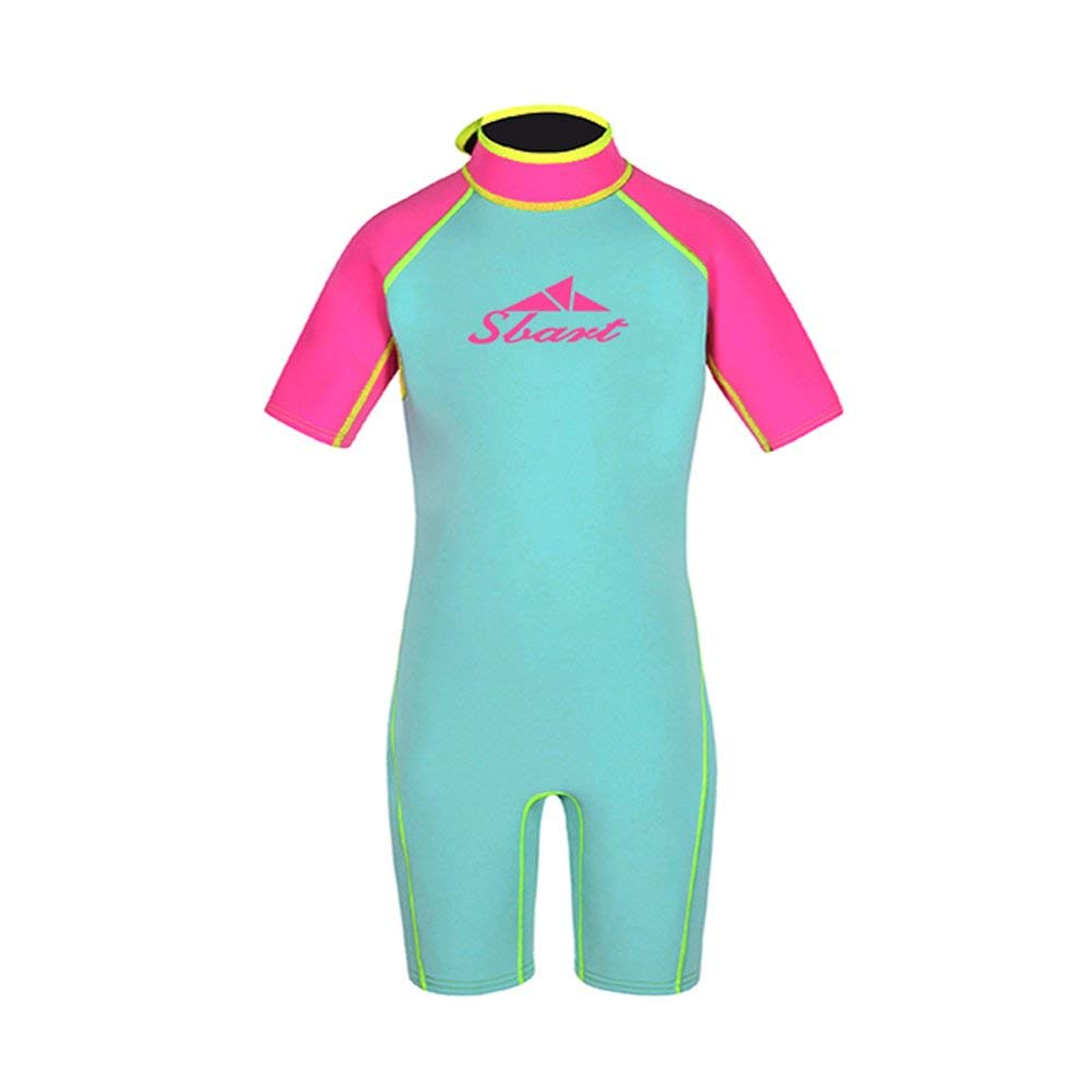 3a0c06cea0 Get Quotations · Kids Wetsuits Youth Premium Neoprene 2mm Youth s Shorty  for Girls and Boys Surfing Swimming Spring Suit