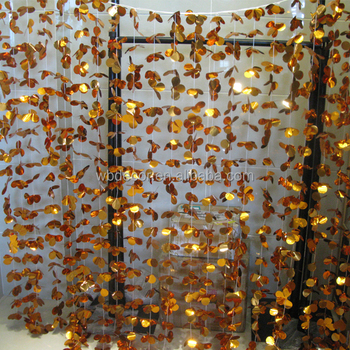PET PVC Flower Tinsel Curtain For Party And Home Decoration