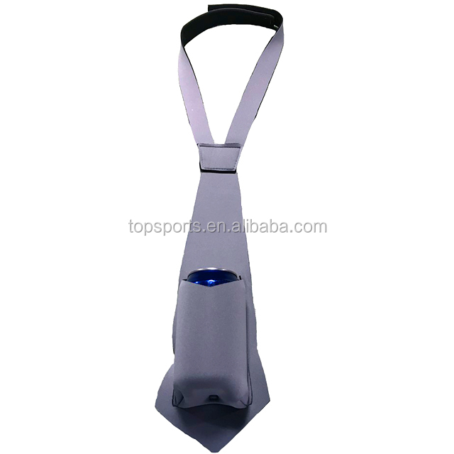 Neoprene necktie can cooler tie can cooler holders with pocket for can beer and beer bottles