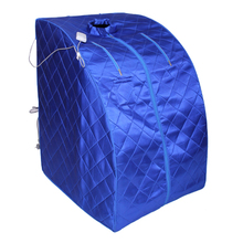 Blauw draagbare ver infrarood <span class=keywords><strong>sauna</strong></span> tent.