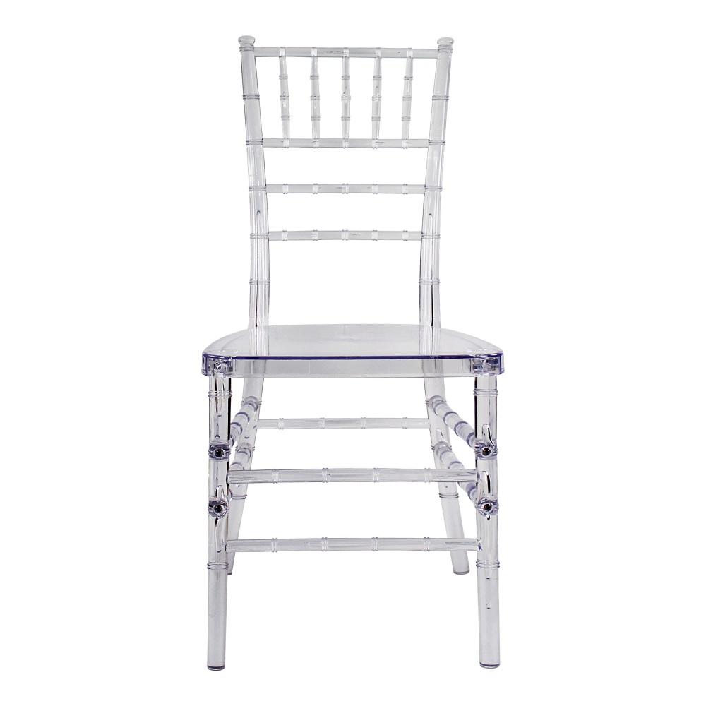clear crystal plastic acrylic resin tiffany chiavari wedding chair
