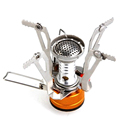 Outdoor Camping Picnic BBQ Butane Gas Burners Portable Camping Mini Steel Stove Cooker Miniature Portable