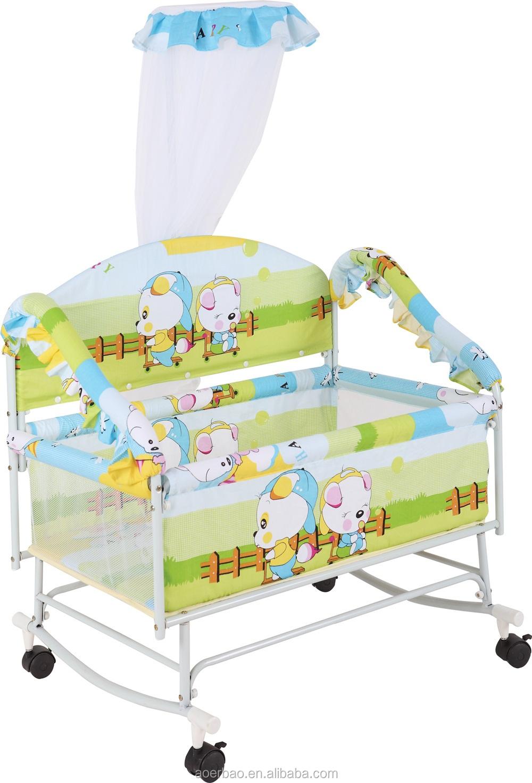Baby cribs rocking - 2016 China New Metal Baby Cradle Cribs Swing Cot Bed Baby Rocking Cot Bed