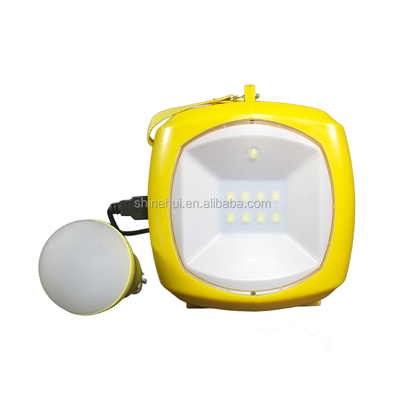 Lead Acid Battery LED rechargeable emergency/Camping led solar lantern